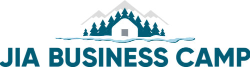logo blue business camp